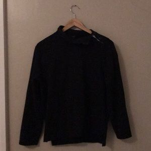 J. Crew black long sleeve top